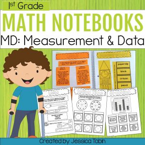 1st Grade Math Measurement and Data Interactive Notebook