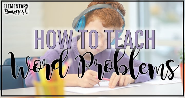 Blog post about teaching word problems with boy in background