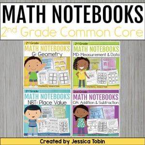 2nd Grade Math Interactive Notebooks Bundle