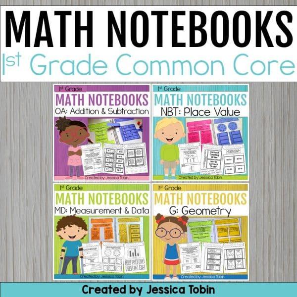 1st Grade Math Interactive Notebooks Bundle