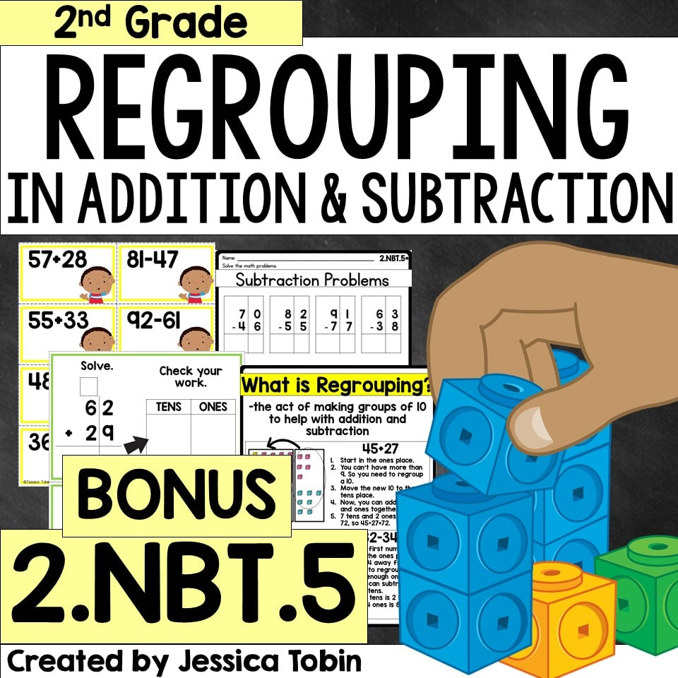 Regrouping in addition and subtraction teaching resource