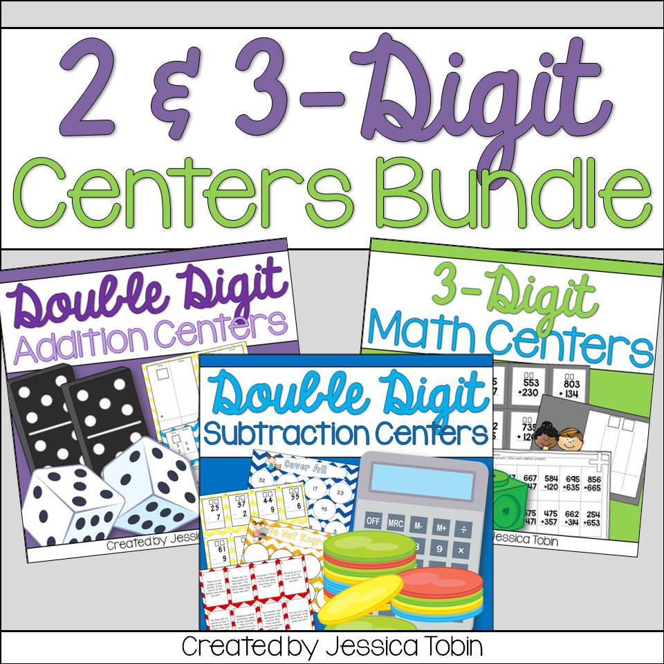 2 and 3 digit centers math bundle