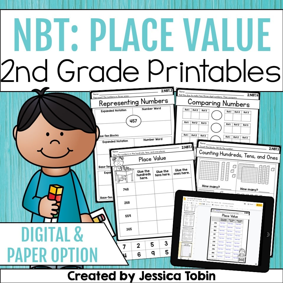 Place value 2nd grade teaching resource printables