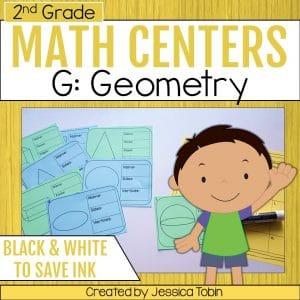 2nd Grade Geometry Math Centers