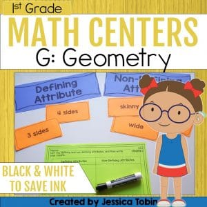 1st Grade Geometry Math Centers