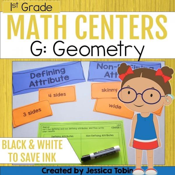 1st Grade Geometry Math Centers
