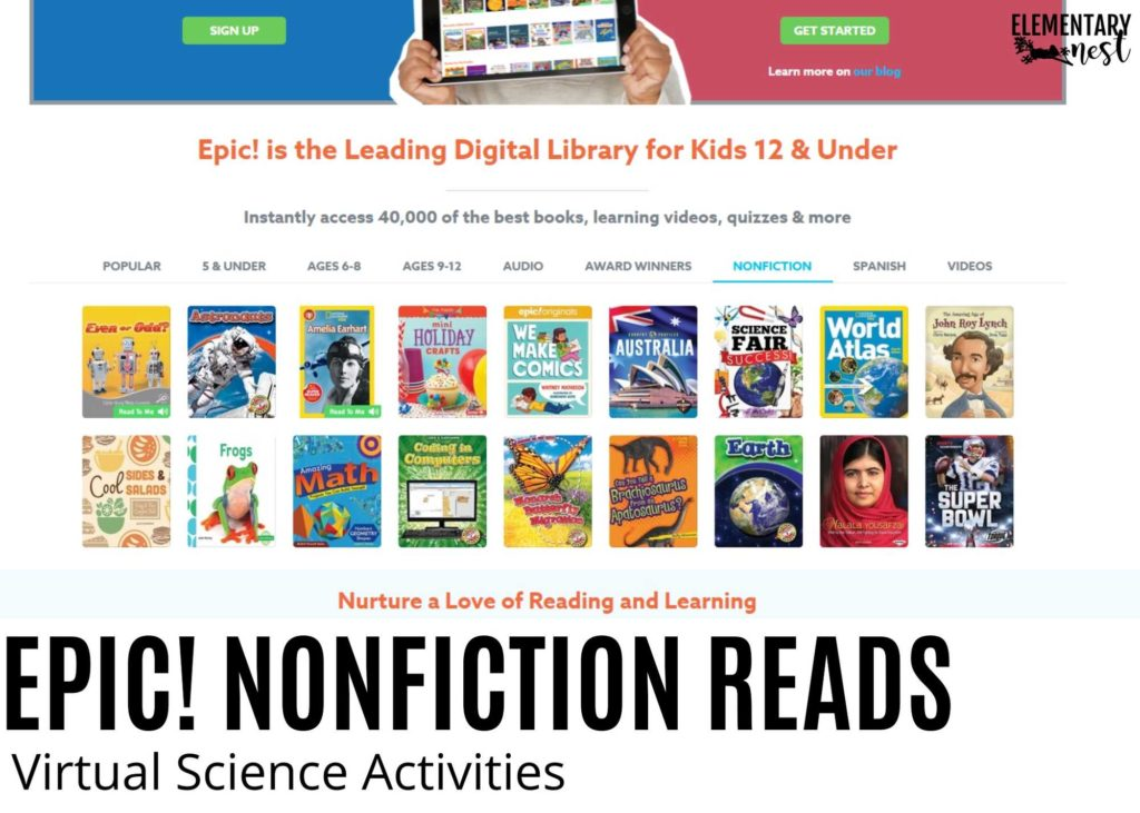 Epic! nonfiction digital books online
