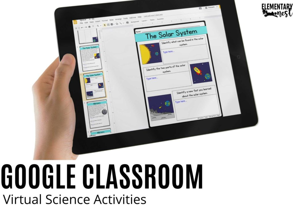 ipad with Science activities