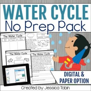 Water Cycle Worksheets with Distance Learning