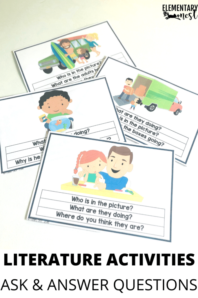 Kindergarten literature ask and answer question activity