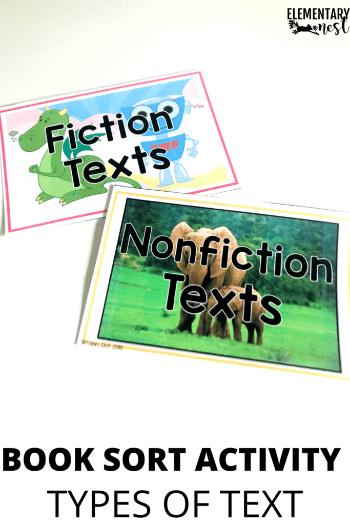 Nonfiction book sort activity