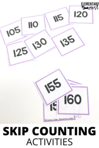 Skip counting task card game