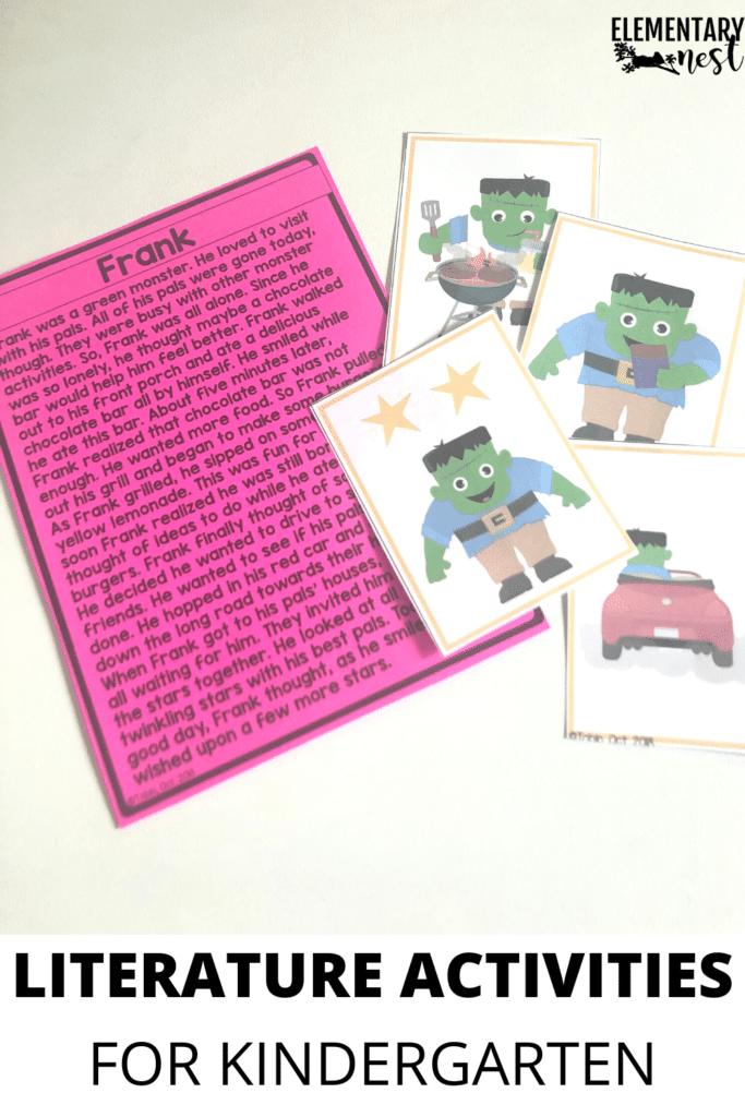 Kindergarten literature reading passage and illustration activity