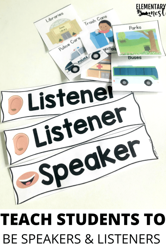 teach students to be speakers and listeners with role cards