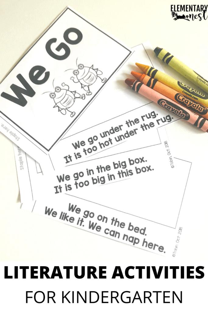 Kindergarten literature decodable reader illustration activity