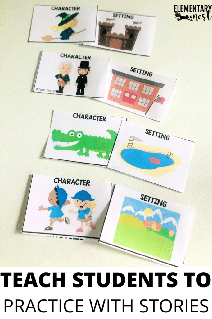 practice listening with storytelling card activities