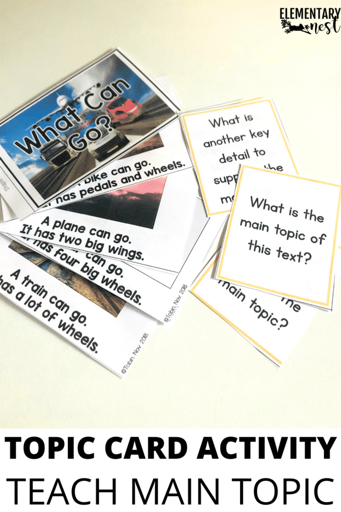 main topic question activity