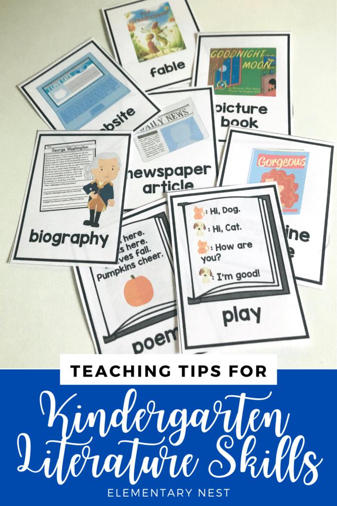 Kindergarten literature skills blog post