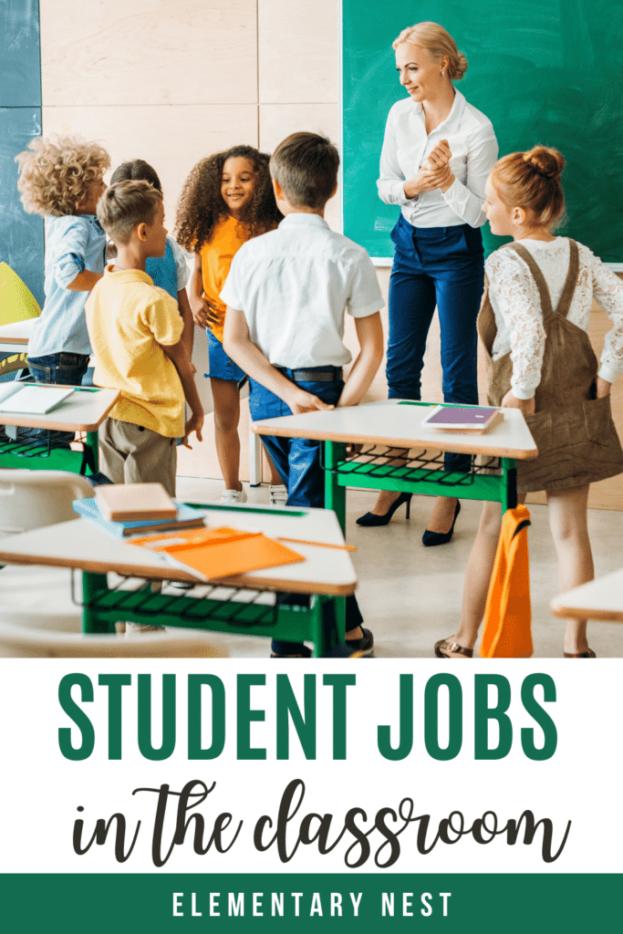 Student jobs in the classroom blog post