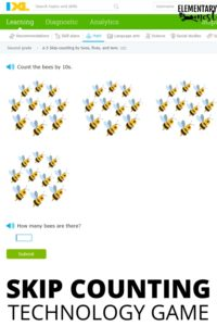 Skip counting IXL technology game