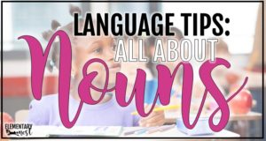 Teaching nouns blog post