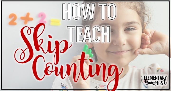 Skip Counting blog post with student