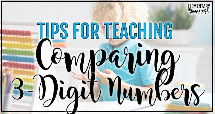 comparing 3-digit number blog post with child counting