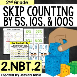 Skip counting activity bundle for 2nd grade