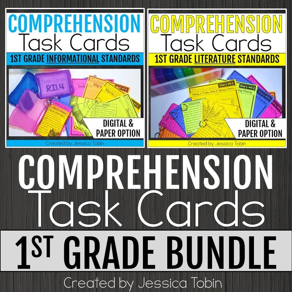 1st grade Comprehension Task Cards