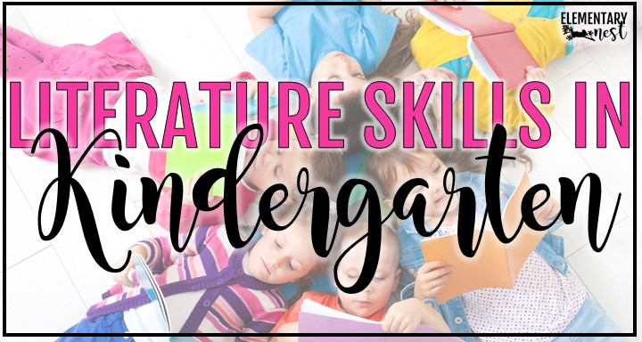 Kindergarten literature skills blog post with students reading