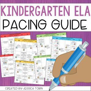 Kindergarten ELA pacing guide resource