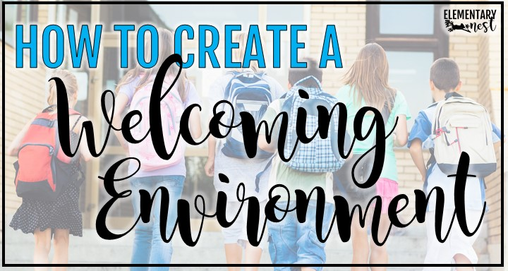 How to create a welcoming classroom environment blog post with students in background