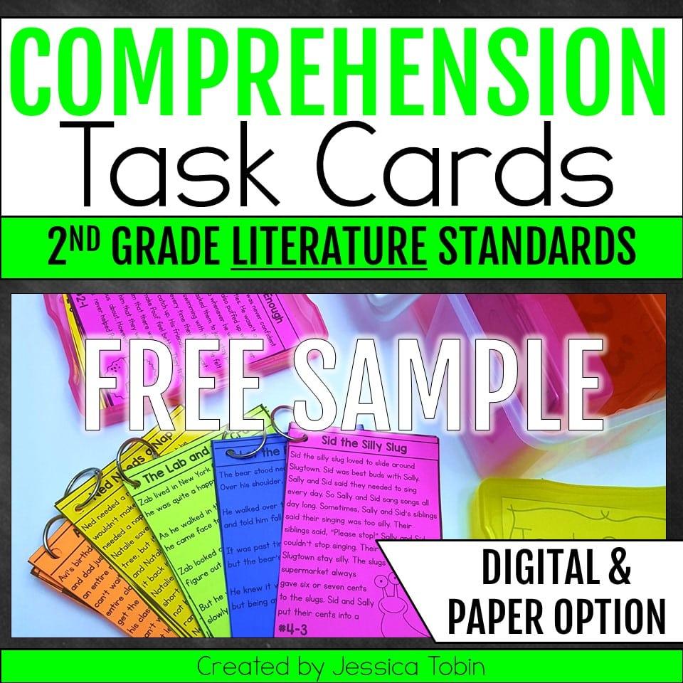 Free 2nd grade Comprehension Task Cards