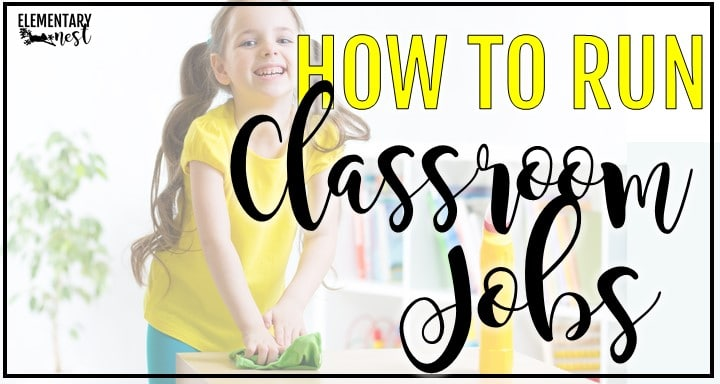 Classroom jobs blog post with girl student