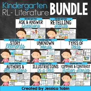Kindergarten literature standards based resource bundle