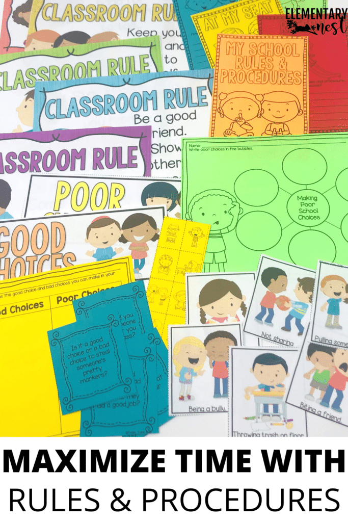 Maximize time in the classroom with rules and procedures-includes rules and procedures posters and resources