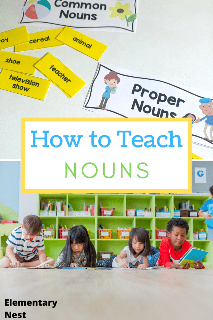 How to teach nouns- pin image for blog post
