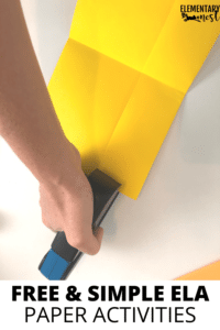 stapling a mini book- free paper folding activities