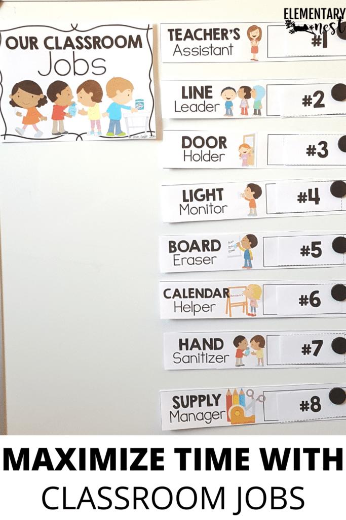 Classroom jobs board