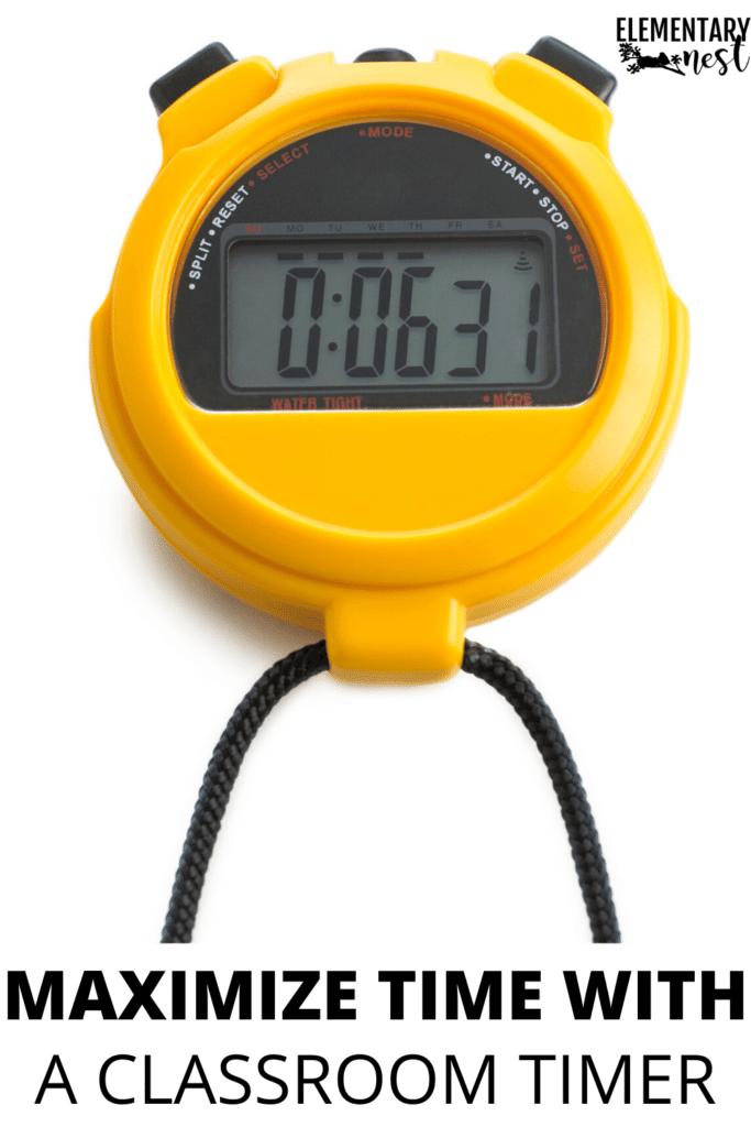 Classroom timer stopwatch