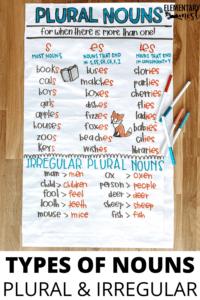 Noun anchor chart