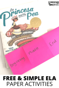 fold and snip book with La Princesa and the Pea read aloud- Free Folding Paper Activities