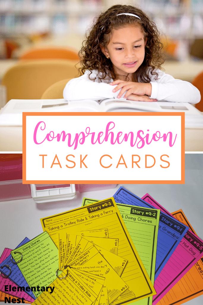 Comprehension Task Cards blog post
