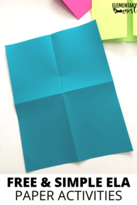 folded four-square paper- Free Folding Paper Activities