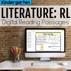 Kindergarten RL Literature Digital Passages