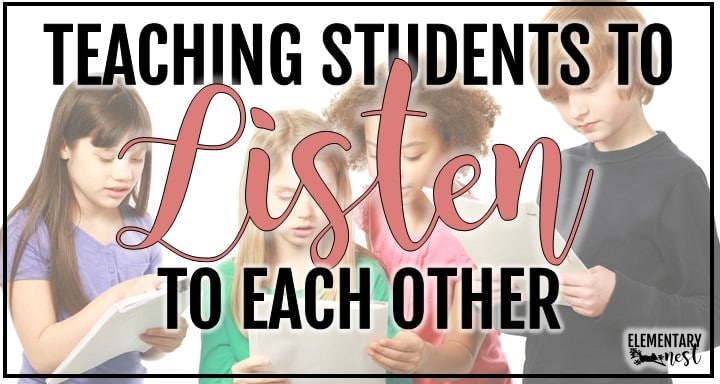 Teaching Students to Listen to Each Other