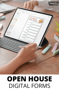iPad questionnaire for parents during back to school