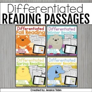 Differentiated Reading Comprehension Passages and Questions