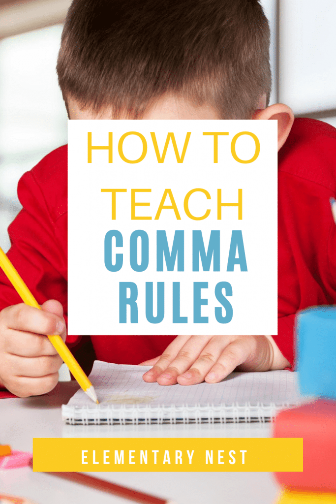 Blog post about teaching commas in elementary.