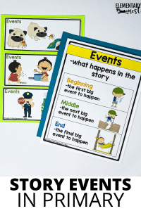 Story events activity and anchor chart